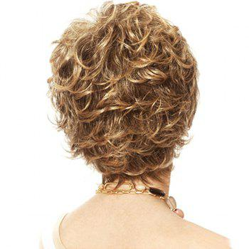 Short Side Bang Shaggy Layered Curly Colormix Synthetic Wig - COLORMIX