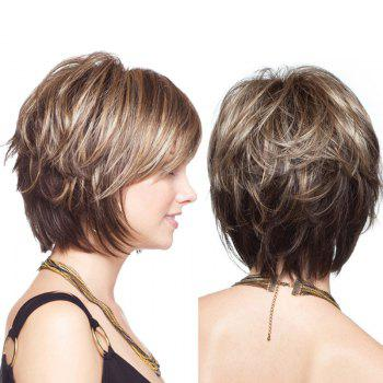 Short Colormix Layered Shaggy Straight Synthetic Wig