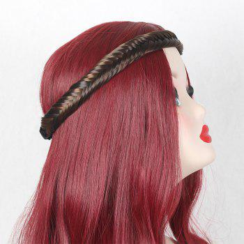 Colormix Fishbone Plaited Headband - DEEP BROWN DEEP BROWN