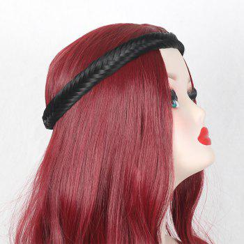 Fishbone Plaited Headband Hair Extension - BLACK BLACK