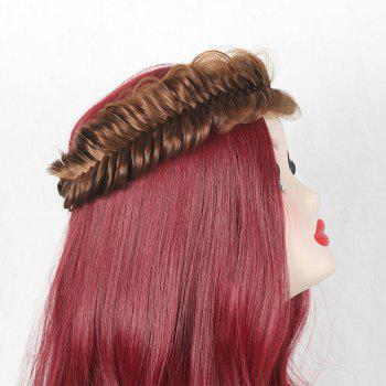 Colormix Fishbone Shape Large Braided Headband Hair Extension - GOLD BROWN GOLD BROWN