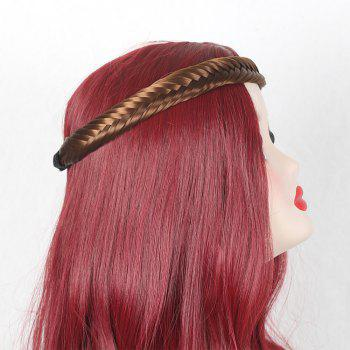 Colormix Fishbone Shape Braided Headband Hair Extension - GOLD BROWN GOLD BROWN