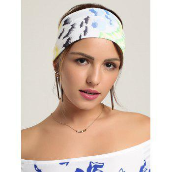 Multicolor Pattern Wide Headhand - Blanc