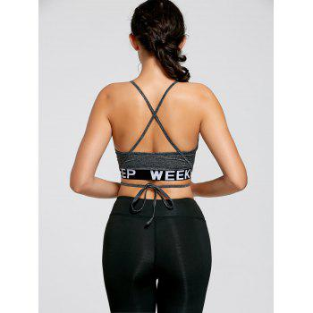 Strappy Halter Wrap Crop Tank Top - L L