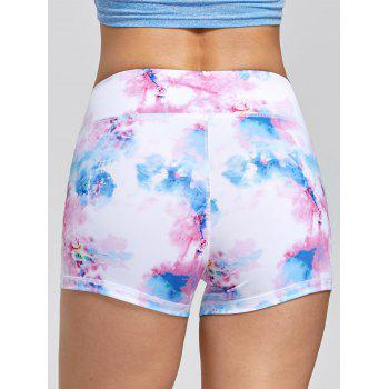 Tie Dye Sports Mini Tights - ROSE PÂLE M