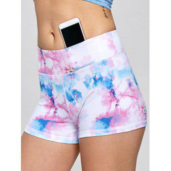 Tie Dye Sports Mini Tights - PINK PINK