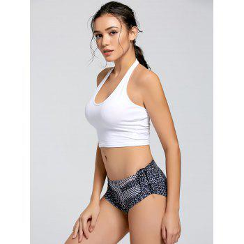 Active Crop Halter Top - WHITE WHITE