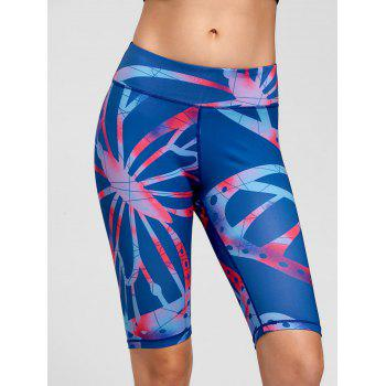 Active Pattern Fitness Shorts - BLUE L