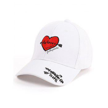 Heart Letters Embroidered Band Baseball Hat