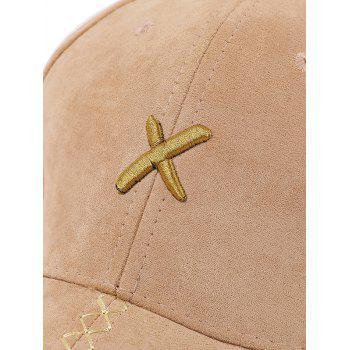 Long Tail Cross Embroidered Baseball Hat -  BLUE