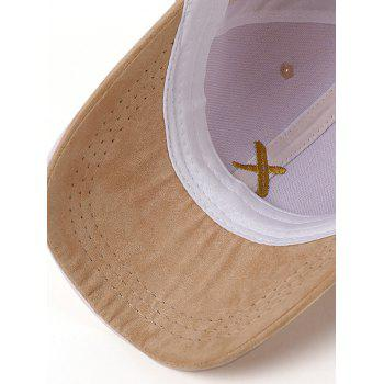 Long Tail Cross Embroidered Baseball Hat - EARTHY