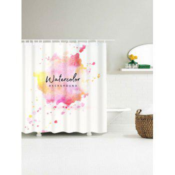 Watercolor Waterproof Shower Curtain - COLORFUL W71 INCH * L79 INCH