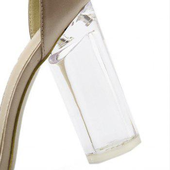 Bow See Through High Heel Sandals - 37 37