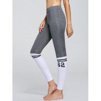 Numbers Contrast Yoga Tights