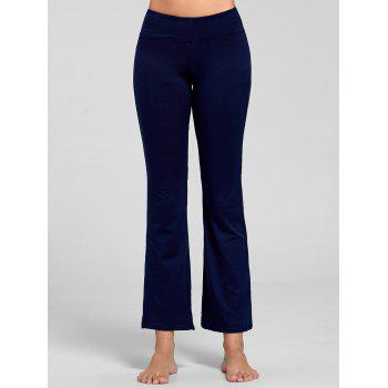 Stretch Bootcut Yoga Pants with Pocket - DEEP BLUE S