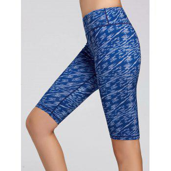 Tie Dye Printed Short Sports Leggings