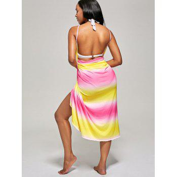 Ombre Wrap Cover Up Dress - ONE SIZE ONE SIZE