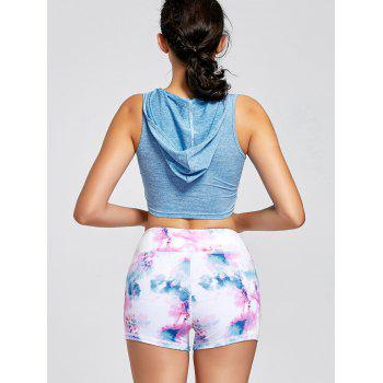 Sports Hooded Crop Tank Top - S S