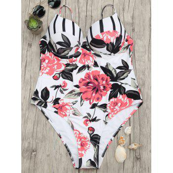 Floral One Piece Underwire Swimsuit