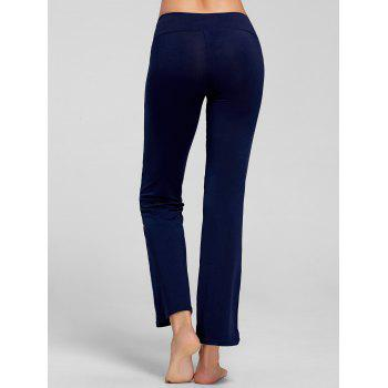 Stretch Bootcut Yoga Pants with Pocket - DEEP BLUE M