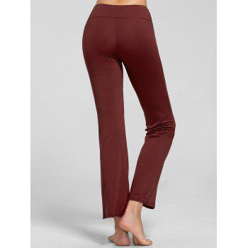 Stretch Bootcut Yoga Pants with Pocket - CLARET S