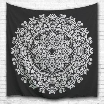 Wall Art Bedroom Décoration de dortoir Tapis de mandala - Blanc Noir W59 INCH * L79 INCH