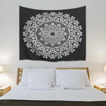 Wall Art Bedroom Dorm Decor Mandala Tapestry - BLACK WHITE W71 INCH * L91 INCH