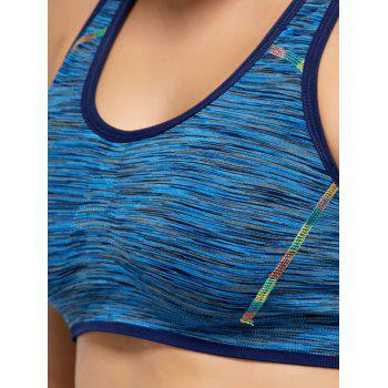 Heater Padded High Impact Sports Bra - BLUE BLUE