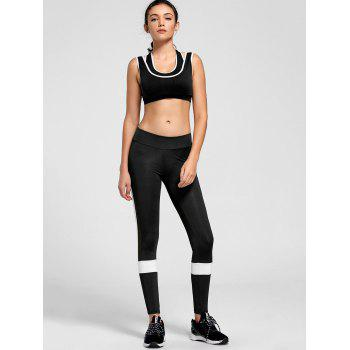 Contrast Two-layered Padded Sports Bra - S S