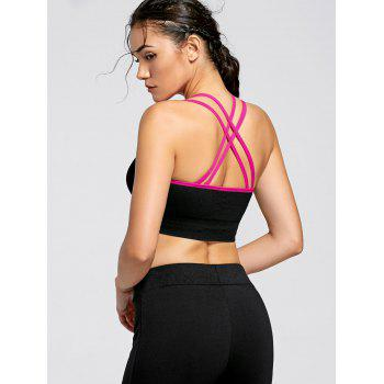 Padded Strappy Criss Cross Yoga Bra - TUTTI FRUTTI M