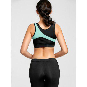 Breathable Padded Racerback Gym Bra - BLUE XL