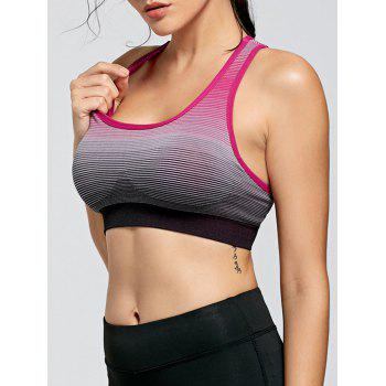 Stripe Ombre Padded Yoga Bra