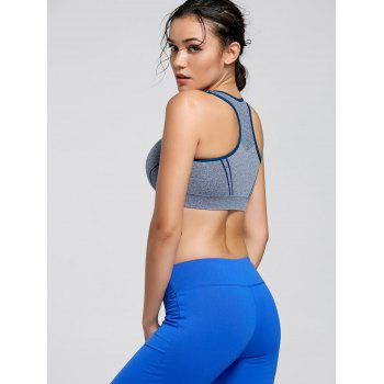 Padding Sports Racerback Bra - BLUE BLUE