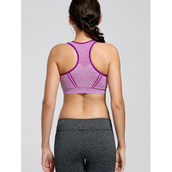 Padding Sports Racerback Bra - PURPLE PURPLE