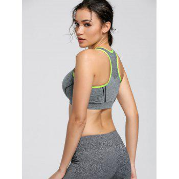 Padding Sports Racerback Bra - NEON GREEN L