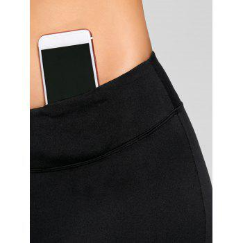 Stretch Bootcut Yoga Pants with Pocket - BLACK S