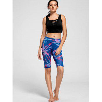 Active Pattern Fitness Shorts - BLUE M