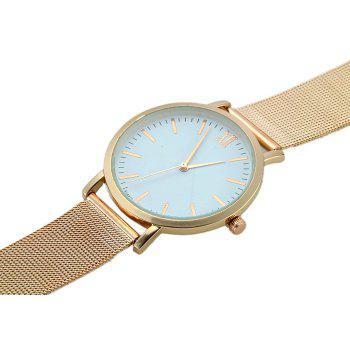 Alloy Mesh Band Minimalist Quartz Watch -  GOLDEN