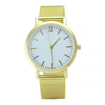 Alloy Mesh Band Minimalist Quartz Watch - GOLDEN GOLDEN