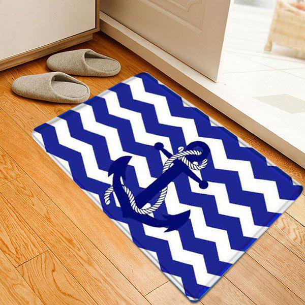 Nautical Anchor Zig-zag Pattern Indoor Outdoor Area Rug pontoon21 zanu zag вокер купить