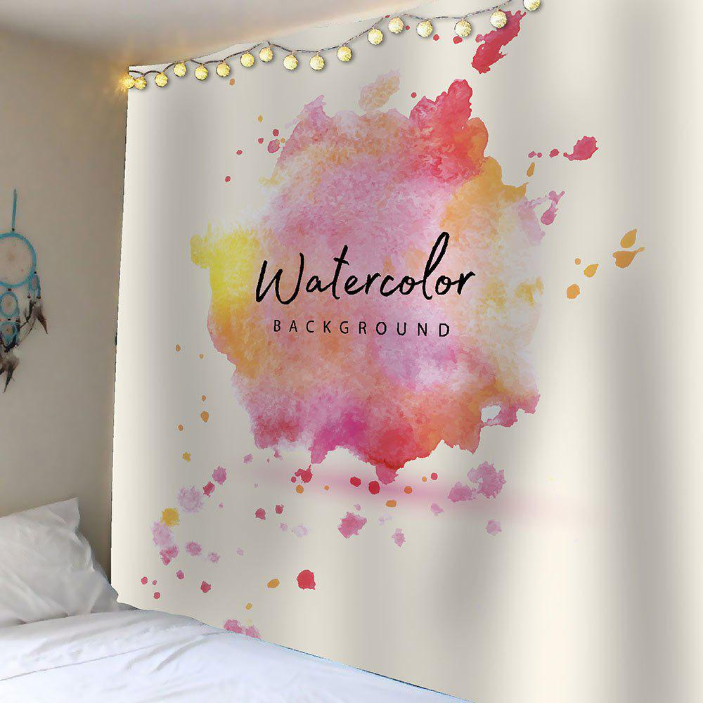 Watercolor Waterproof Wall Tapestry - COLORFUL W59 INCH * L51 INCH