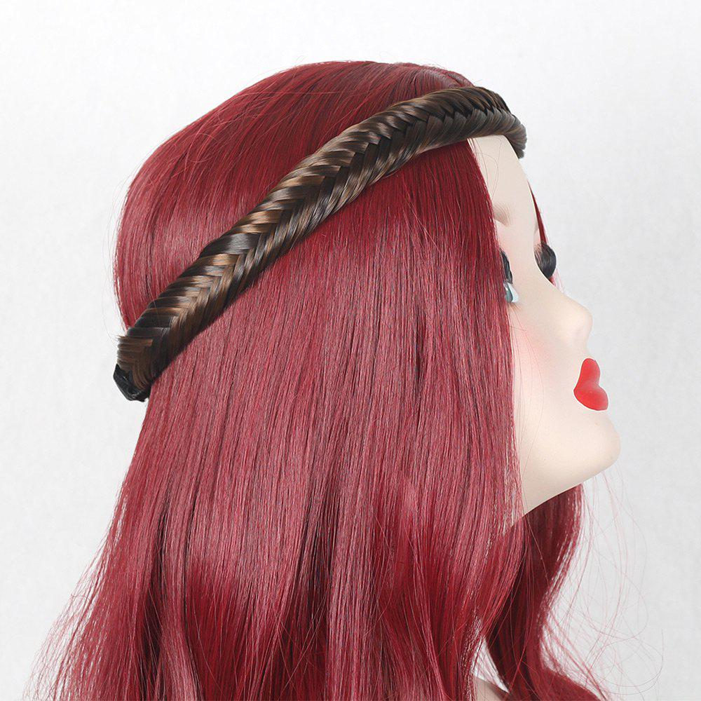 Colormix Fishbone Plaited Headband - DEEP BROWN