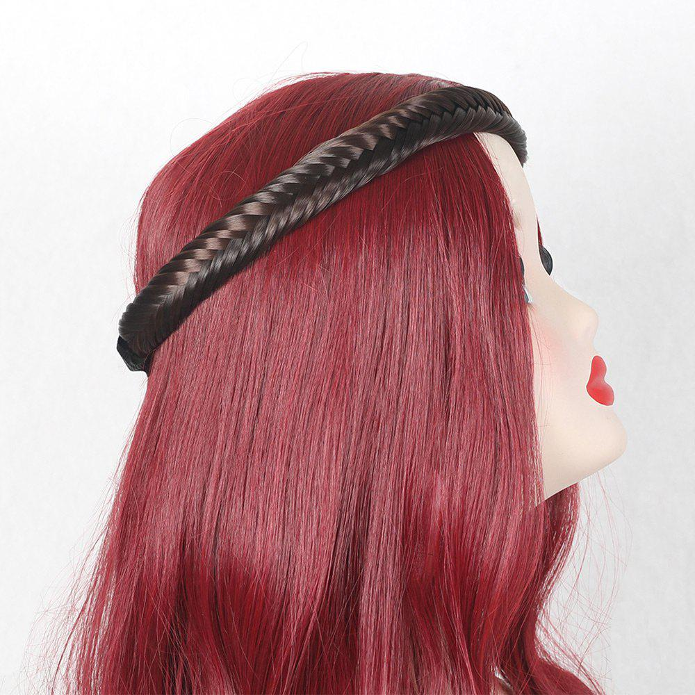 Colormix Fishbone Plaited Headband - BROWN
