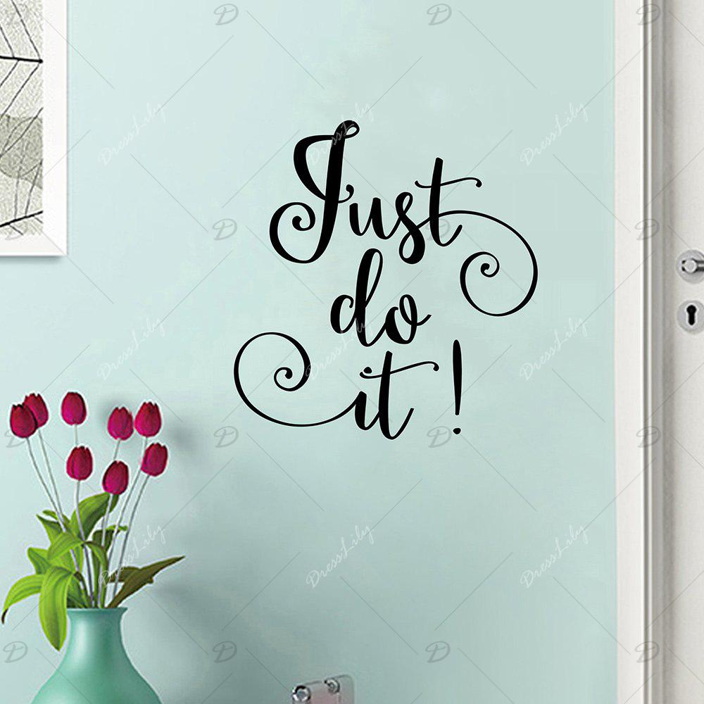 Inspirational Just Do It Letter Wall Sticker - BLACK 42*40CM