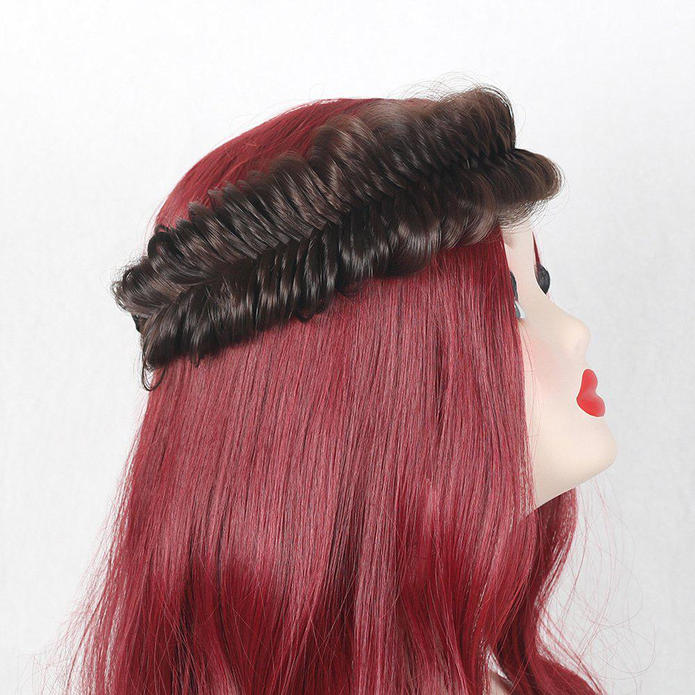 Fishbone Colormix Large Braided Headband - BROWN
