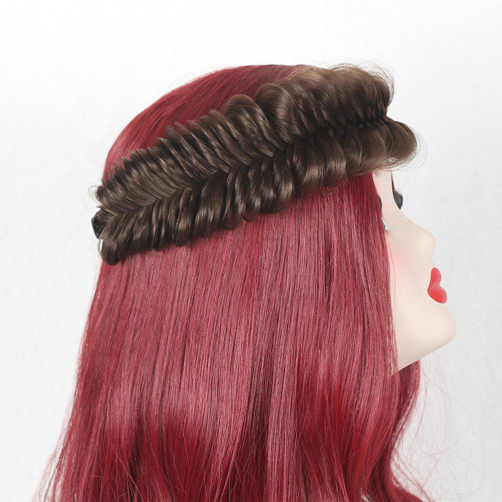 Colormix Fishbone Shape Large Braided Headband Hair Extension - DEEP BROWN
