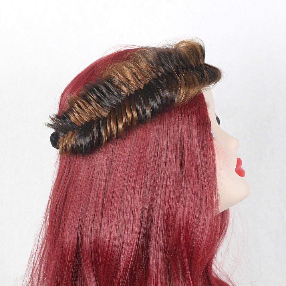 Fishbone Colormix Large Braided Headband - BROWN/GOLDEN