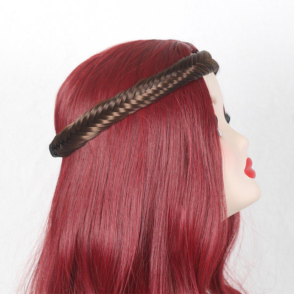 Colormix Fishbone Shape Braided Headband Hair Extension - marron légère