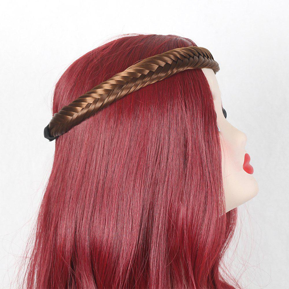 Colormix Fishbone Shape Braided Headband Hair Extension - GOLD BROWN