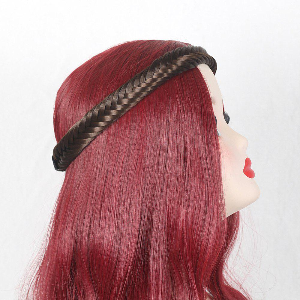 Colormix Fishbone Shape Braided Headband Hair Extension - brun foncé